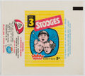 Non-Sport Cards:Unopened Packs/Display Boxes, Scarce 1959 Fleer Three Stooges 5-Cent Wax Pack Wrapper. ...