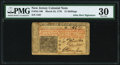 Colonial Notes:New Jersey, John Hart Signed New Jersey March 25, 1776 15s PMG Very Fine 30.. ...