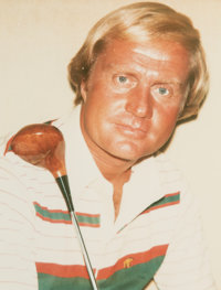 Andy Warhol (American, 1928-1987) Jack Nicklaus, 1977 Unique color Polaroid 3-3/4 x 2-7/8 inches