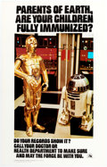 Memorabilia:Science Fiction, Star Wars Immunization Poster (U.S. Department of Health, Education, and Welfare, 1977). Rolled....