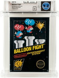 Balloon Fight [Rev-A, Round SOQ] - Carolina Collection Wata 9.2 A+ Sealed NES Nintendo 1986 USA