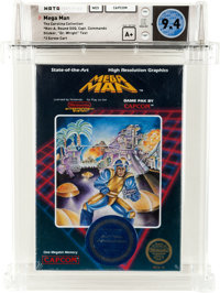 "Mega Man [""Dr. Wright"" First Release] - Carolina Collection Wata 9.4 A+ Sealed NES Capcom 1987 USA"