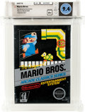 Video Games:Nintendo, Mario Bros. [Rev-A, Round SOQ] - Carolina Collection Wata 9.4 A+ Sealed NES Nintendo 1986 USA....