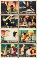 """Movie Posters:James Bond, Goldfinger (United Artists, 1964). Overall: Fine/Very Fine. Lobby Card Set of 8 (11"""" X 14"""") with Original Studio Envelope. J... (Total: 9 Items)"""