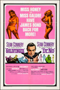 Movie Posters:James Bond, Goldfinger/Dr. No Combo (United Artists, R-1966). Folded, ...
