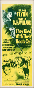 Movie Posters:Western, They Died with Their Boots On (Dominant Pictures, R-1956)....