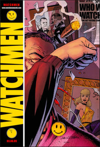 """Watchmen (Warner Brothers, 2009). Rolled, Very Fine+. Autographed and Numbered Comic-Con Exclusive One Sheet (27"""" X..."""