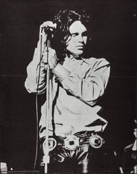 """Jim Morrison (Pandora Productions, 1969). Folded, Very Fine-. Poster (28.25"""" X 36"""") Mike Barich Photography. R..."""