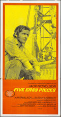 Movie Posters:Drama, Five Easy Pieces (Columbia, 1970). Folded, Fine/Very Fine....