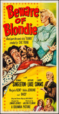 Movie Posters:Comedy, Beware of Blondie (Columbia, 1950). Folded, Fine/Very Fine...