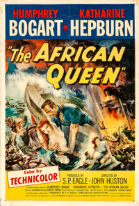 "The African Queen (United Artists, 1952). Fine on Linen. One Sheet (27"" X 41"")"