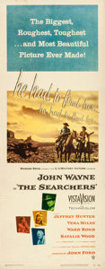 Movie Posters:Western, The Searchers (Warner Brothers, 1956). Rolled, Fine/Very F...