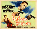 "Movie Posters:Film Noir, The Maltese Falcon (Warner Bros., 1941). Fine+ on Paper. Half Sheet (22"" X 28"") Style B.. ..."