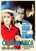 Movie Posters:Academy Award Winners, Casablanca (Warner Brothers, R-1962). Very Fine on Linen. ...