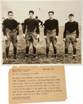 Football Collectibles:Photos, 1930 The Four Horsemen of Notre Dame Original News Photograph, PSA/DNA Type 1....