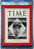 Baseball Collectibles:Publications, 1948 Joe DiMaggio Time Magazine CGC 9.0....