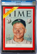 Baseball Collectibles:Publications, 1953 Mickey Mantle Time Magazine CGC 6.5 - Pop One, None Higher!...