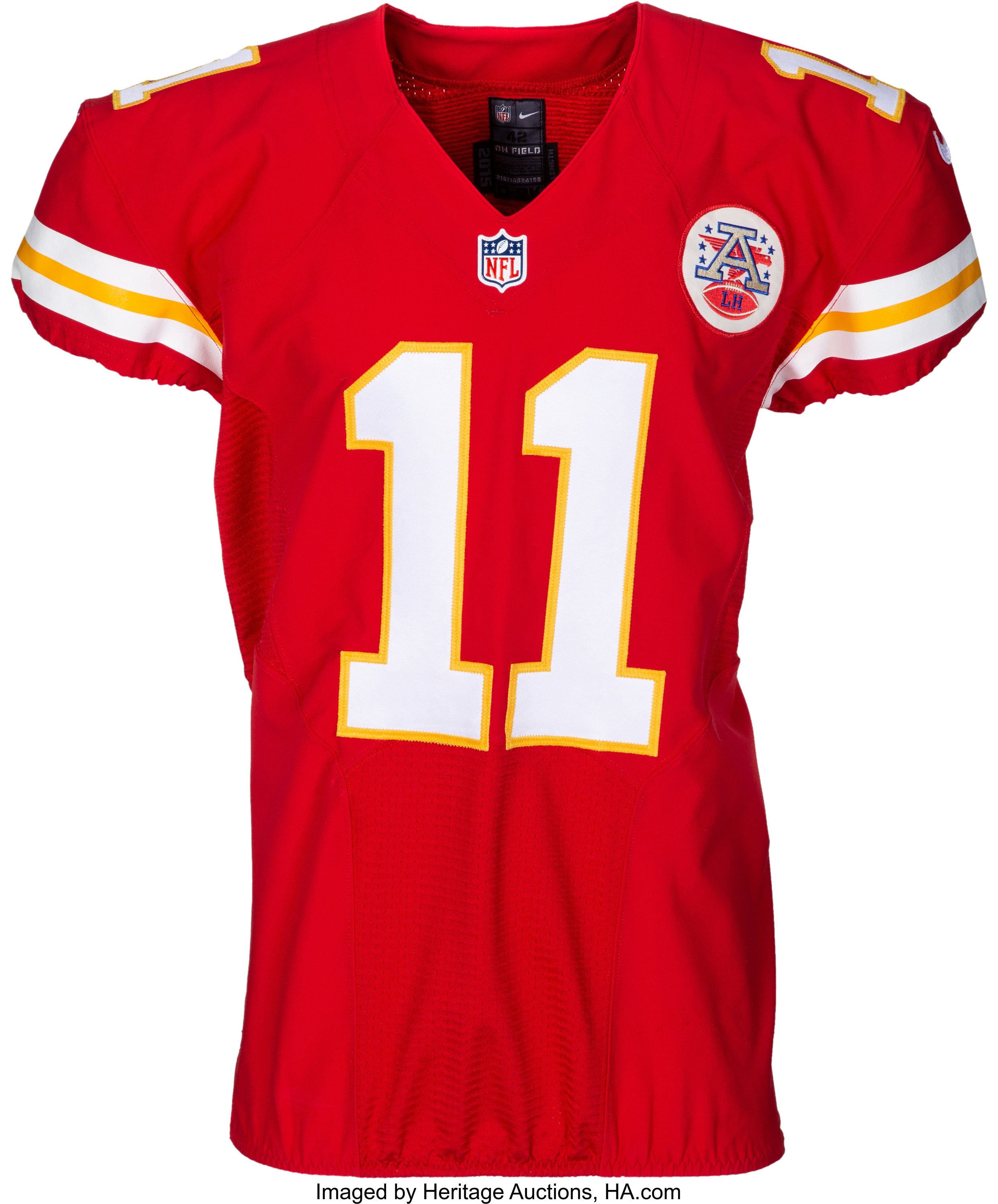 newest collection 7fb9b 99f58 2015 Alex Smith Game Worn & Signed Kansas City Chiefs Jersey - | Lot #53898  | Heritage Auctions