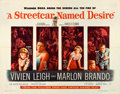 "Movie Posters:Drama, A Streetcar Named Desire (Warner Bros., 1951). Folded, Very Fine-. Half Sheet (22"" X 28""). Drama.. ..."