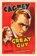 "Movie Posters:Drama, Great Guy (Grand National, 1936). Very Fine on Linen. One Sheet (27"" X 41"") Stone Litho Style.. ..."