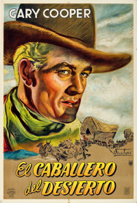 """The Westerner (Guaranteed Pictures, 1943). Folded, Very Fine-. Argentinean Poster (29"""" X 43"""") Osvaldo Venturi..."""