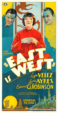 """East is West (Universal, 1930). Folded, Very Fine+. Three Sheet (41"""" X 79"""")"""