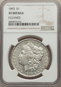 Morgan Dollars, 1893 $1 -- Cleaned -- NGC Details. XF. NGC Census: (277/4217). PCGS Population: (521/6843). CDN: $200 Whsle. Bid for proble...