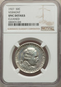 Commemorative Silver, 1927 50C Vermont -- Cleaned -- NGC Details. Unc. NGC Census: (1/3104). PCGS Population: (9/4645). CDN: $225 Whsle. Bid for ...