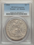 Seated Dollars, 1860 $1 -- Tooled -- PCGS Genuine. AU Details. NGC Census: (7/95). PCGS Population: (22/135). CDN: $900 Whsle. Bid for prob...