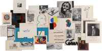 Sonia Delaunay-Terk (French, 1885-1979) and others Group of Sonia Delaunay Ephemera, Including Articles from Ju