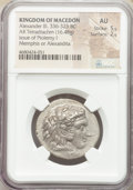 Ancients:Greek, Ancients: MACEDONIAN KINGDOM. Alexander III the Great (336-323 BC). AR tetradrachm (28mm, 16.48 gm, 11h). NGC AU 5/5 - 2/5....