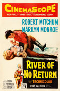 Movie Posters:Western, River of No Return (20th Century Fox, 1954). Fine+ on Line...