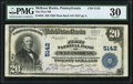 National Bank Notes:Pennsylvania, McKees Rocks, PA - $20 1902 Plain Back Fr. 658 The First National Bank Ch. # 5142 PMG Very Fine 30.. ...