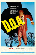 "Movie Posters:Film Noir, D.O.A. (United Artists, 1950). Very Fine- on Linen. One Sheet (27"" X 41"").. ..."