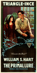 "Movie Posters:Drama, The Primal Lure (Triangle-Ince, 1916). Very Fine- on Linen. Three Sheet (41"" X 81"").. ..."