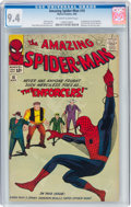 Silver Age (1956-1969):Superhero, The Amazing Spider-Man #10 (Marvel, 1964) CGC NM 9.4 Off-white to white pages....