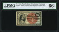 Fractional Currency:Fourth Issue, Fr. 1271 15¢ Fourth Issue PMG Gem Uncirculated 66 EPQ.. ...