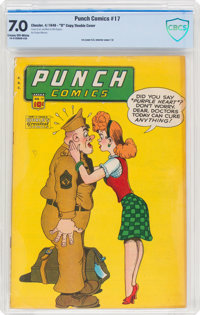 "Punch Comics #17 Double Cover - ""D"" Copy (Chesler, 1946) CBCS FN/VF 7.0 Cream to off-white pages"