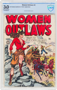 Women Outlaws #2 Double Cover (Fox Features Syndicate, 1948) CBCS GD/VG 3.0 Cream to off-white pages