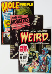 Monster Magazines Box Lot (Various, 1960s-70s) Condition: Average VG