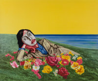 Zeng Fanzhi (Chinese, b. 1964) Untitled (Reclining Figure), 1998 Lithograph in colors on paper 39