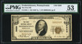 National Bank Notes:Pennsylvania, Fredericktown, PA - $10 1929 Ty. 1 The First National Bank Ch. # 5920 PMG About Uncirculated 53.. ...