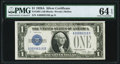 Small Size:Silver Certificates, Fr. 1601 $1 1928A Silver Certificate. A-B Block. PMG Choice Uncirculated 64 EPQ.. ...