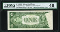 Error Notes:Obstruction Errors, Obstructed Printing on Back Error Fr. 1613N $1 1935D Narrow Silver Certificate. PMG Extremely Fine 40.. ...