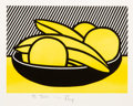 Prints & Multiples:Contemporary, After Roy Lichtenstein . Bananas and Grapefruit, mailer, c. 1972. Screenprint in colors on smooth wove paper. 10 x 12 in...