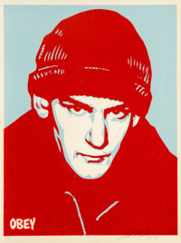 Shepard Fairey (b. 1970) Ian Mackaye, 2002 Screenprint in colors on speckled cream paper 24 x 18
