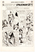 Original Comic Art:Panel Pages, Mike Sekowsky and Bernard Sachs Justice League of America#20 Story Page 16 Original Art Panel Page (DC, 1963)....