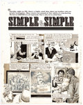 "Original Comic Art:Complete Story, John Severin Cracked #212 Complete 7-Page Story ""Simple & Simple"" Original Art (Major Publications, 1985).... (Total: 7 Original Art)"