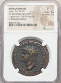 Ancients:Roman Imperial, Nero (AD 54-68). AE sestertius (34mm, 21.53 gm, 7h). NGC F...