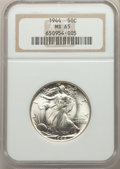 Walking Liberty Half Dollars: , 1944 50C MS65 NGC. NGC Census: (3304/1008). PCGS Population: (5114/1544). MS65. Mintage 28,206,000. ...